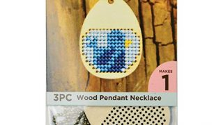Wood Necklace Punched For Cross Stitch-Egg Shape Chain