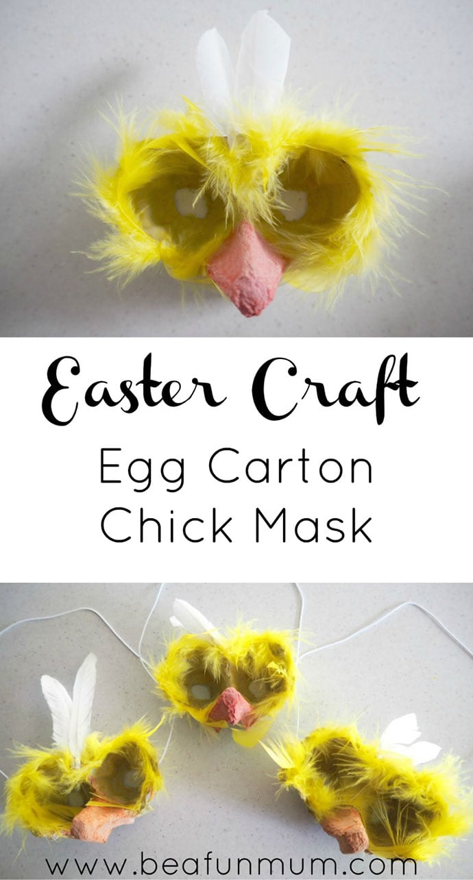 Egg carton mask