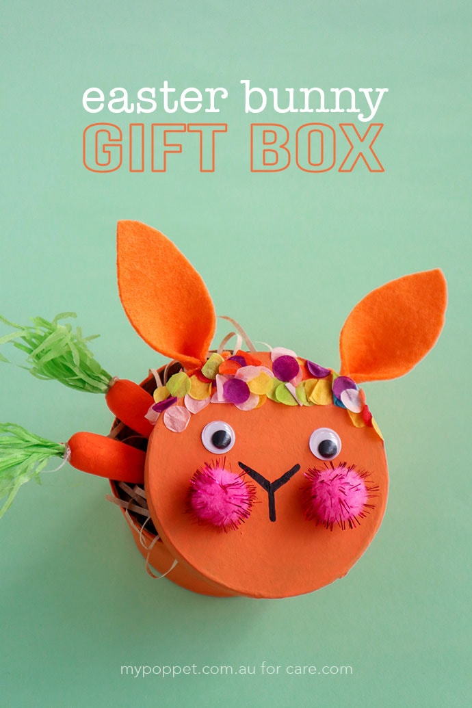 Easter craft for kids - Easter Bunny Gift Box - mypoppet.com.au