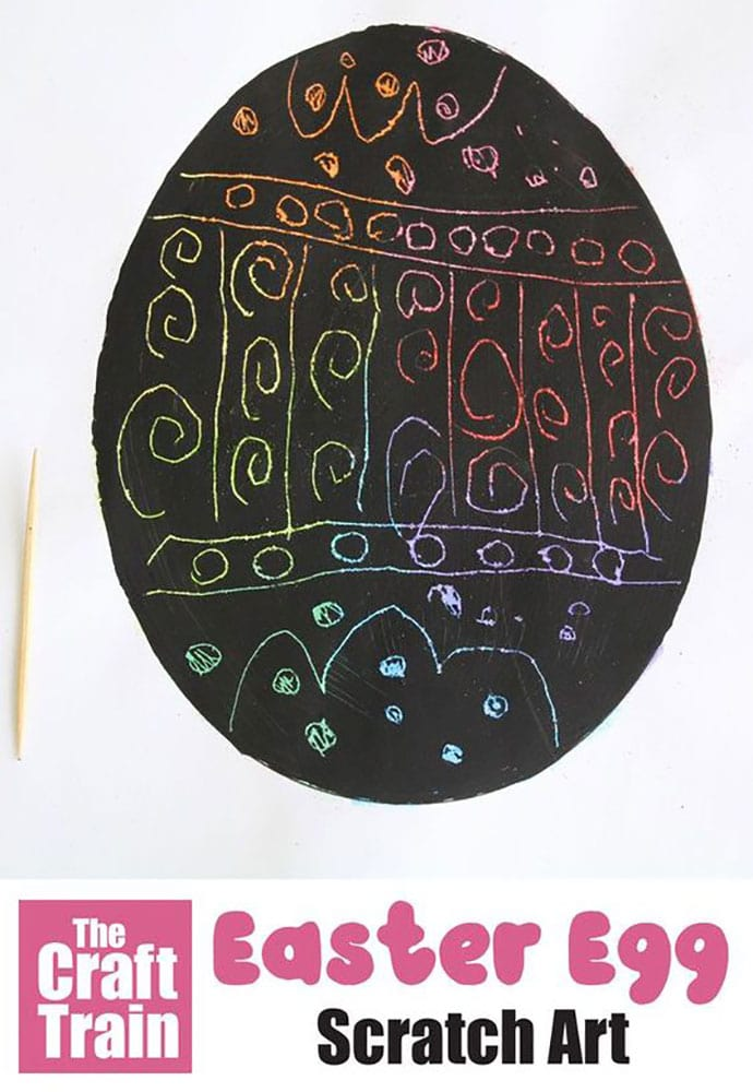 Easter Egg Scratch art