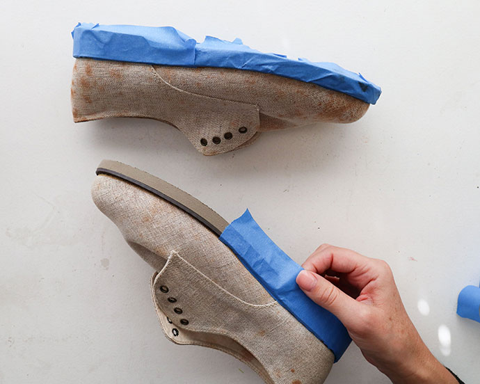 Shoe makeover with chalk paint - mypoppet.com.au