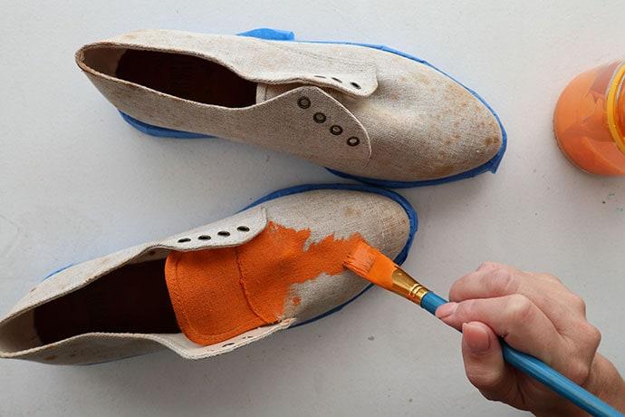 Leopard print shoe makeover mypoppet.com.au