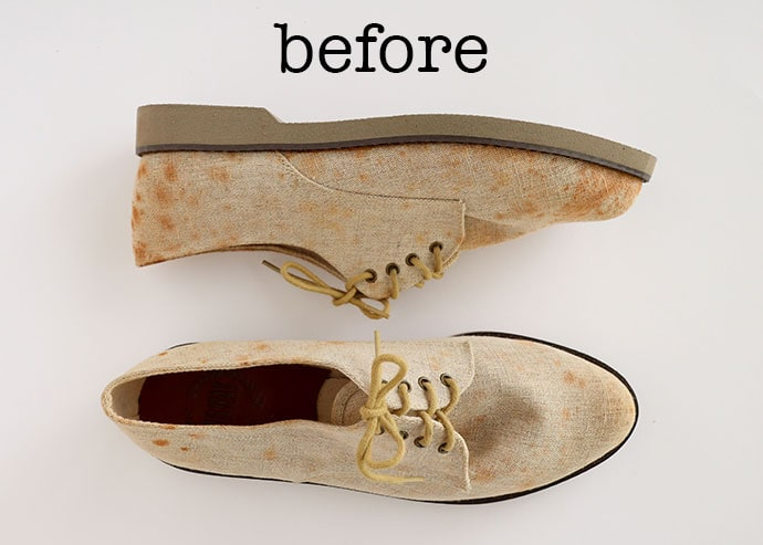Before shoe makeover - mypoppet.com.au