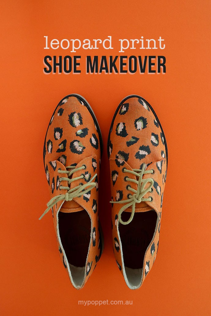 DIY leopard print shoe makeover with chalk paint - mypoppet.com.au