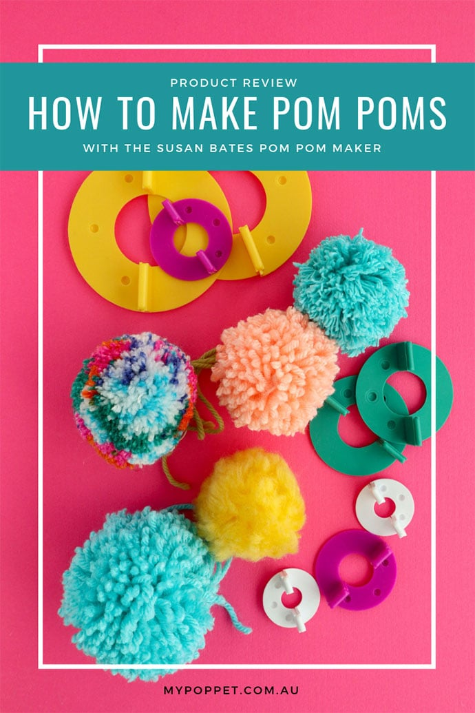 How to use a pom pom maker with video