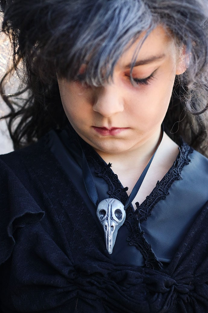 DIY bellatrix lestrange bird head necklace - mypoppet.com.au