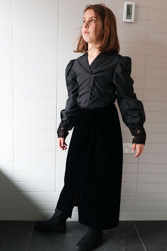 Black dress durning refashion