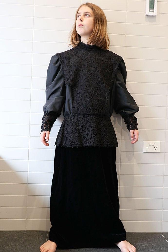Black dress before refashion