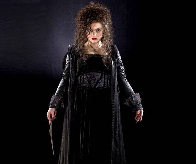 Bellatrix Lestrange played by Helena Bonham Carter