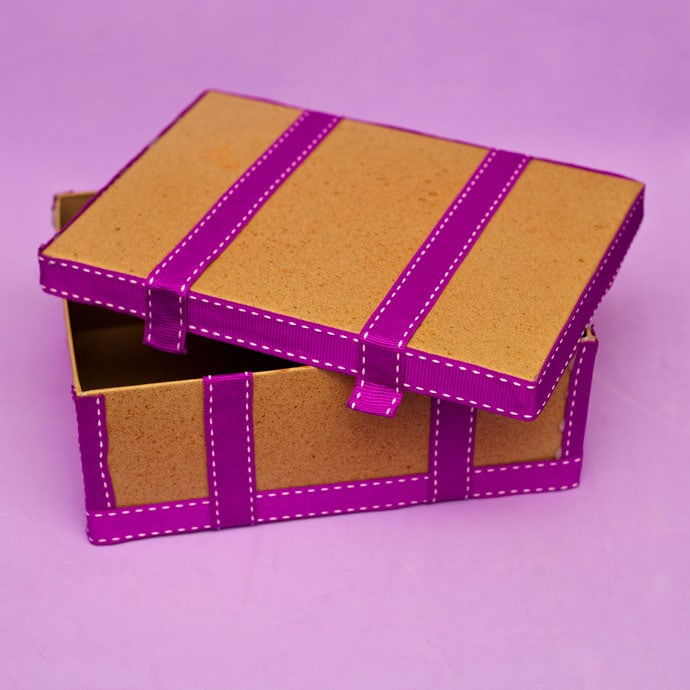 DIY storage box shoe box craft - mypoppet.com.au