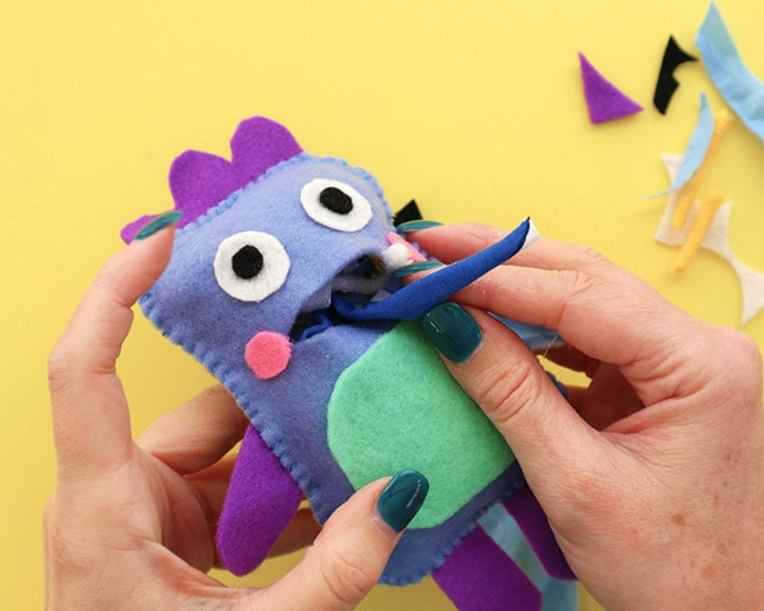 Gobble monster zero waste softie pattern - mypoppet.com.au
