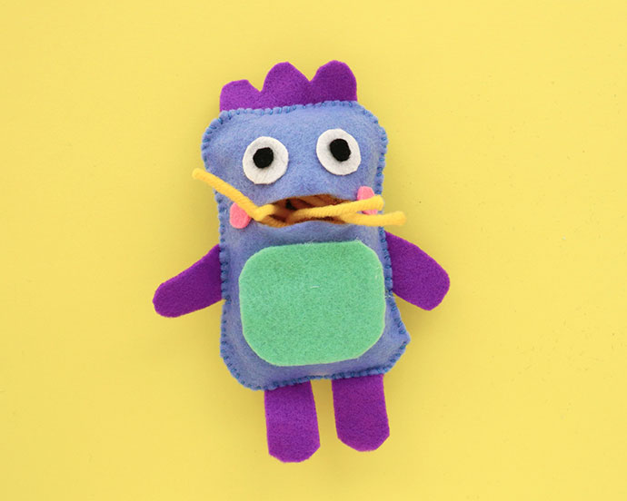 Learn to sew Gobble Monster Doll - mypoppet.com.au