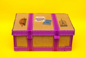 shoe box craft project - vintage steamer trunk