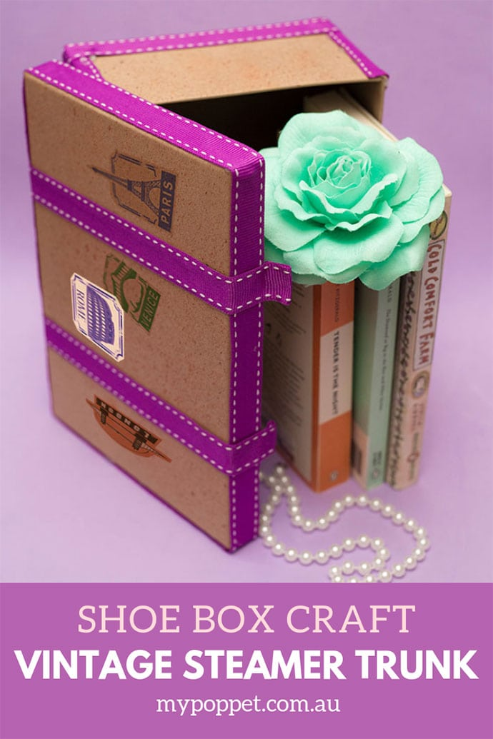 Vintage trunk storage box DIY - mypoppet.com.au