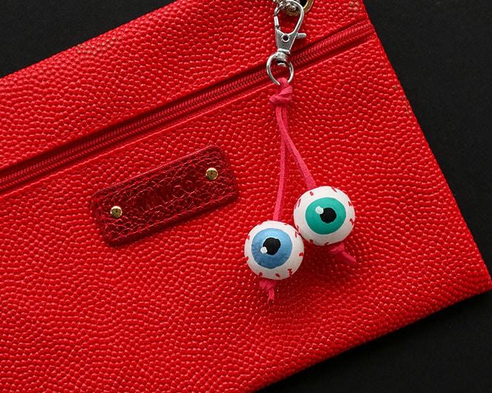 Halloween Eyeball Bagcharm - mypoppet.com.au