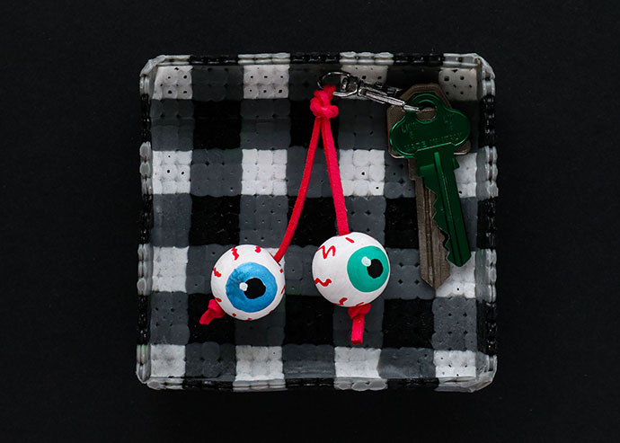 Eyeball Keyring Craft - mypoppet.com.au