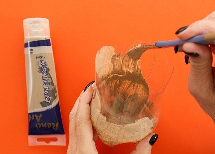Paint the inside of the bottle box - mypoppet.com.au