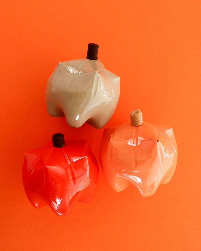 recycle bottle pumpkin crafts - mypoppet.com.au