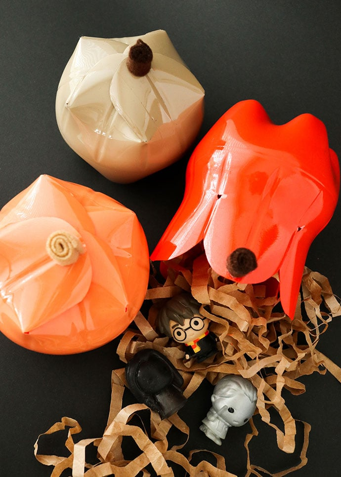 recycled Plastic bottle pumpkin gift box craft