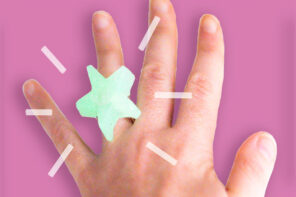Hot glue crafts - glow in the dark ring