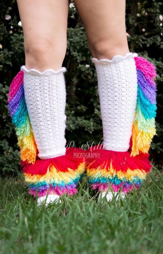 Unicorn Legwarmers Crochet Pattern