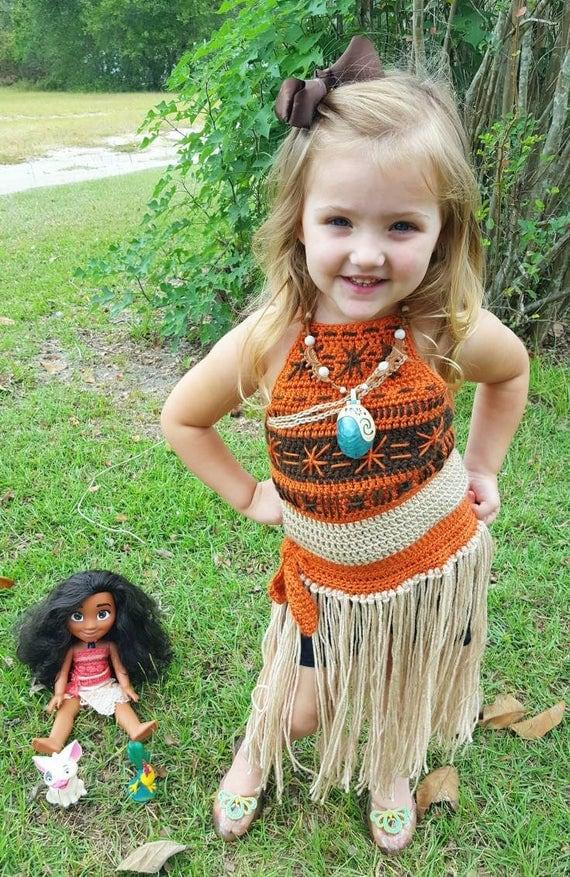 Moana Inspired Dress Costume Crochet Pattern