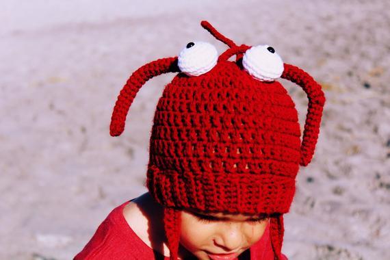 Lobster Hat Crochet Pattern