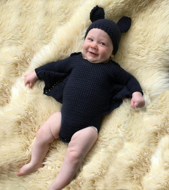 Baby Bat Costume Crochet Pattern
