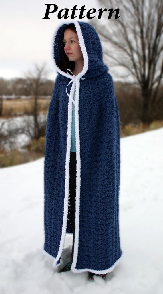 Hooded Cape Crochet Pattern