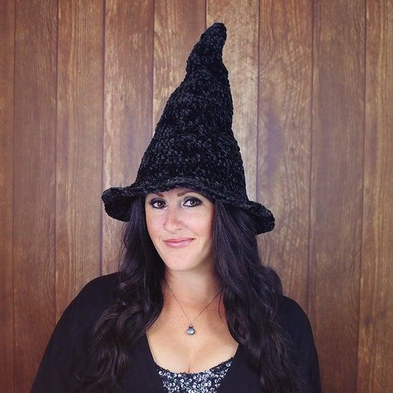 Velvet Witch Hat Crochet Pattern