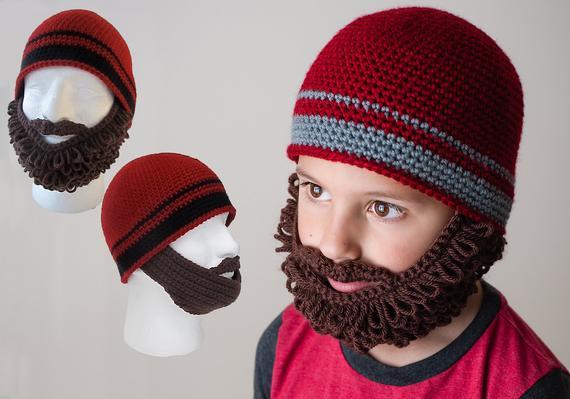 Crochet Beard and Beanie Pattern