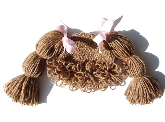 Cabbage Patch Wig Hat Crochet Pattern