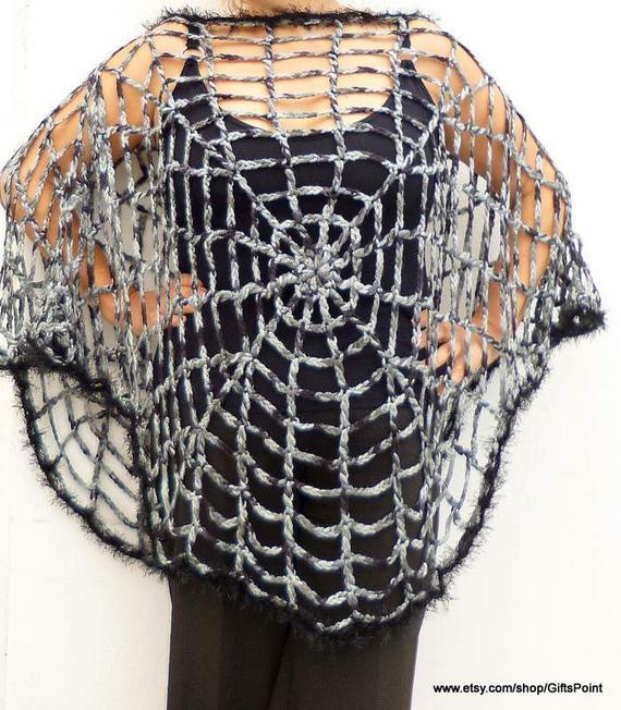 Crochet Spider Web Poncho Pattern
