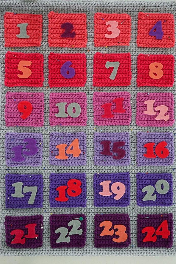Modern Advent calendar crochet pattern - mypoppet.com.au
