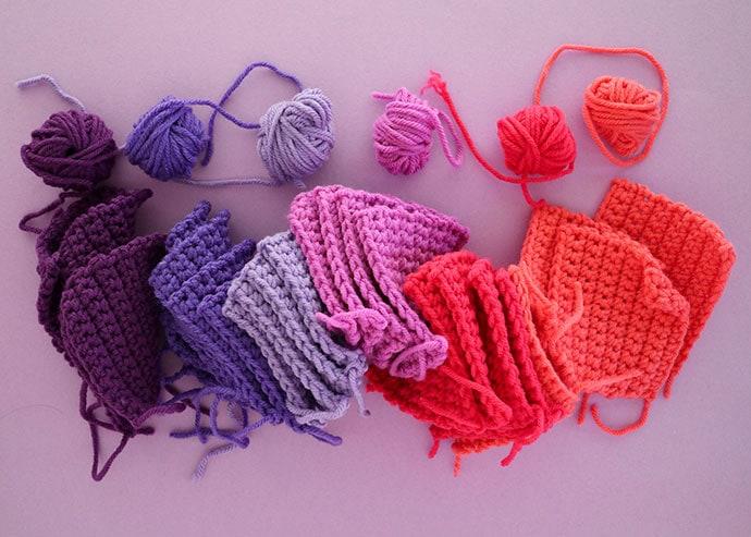 24 crochet squares