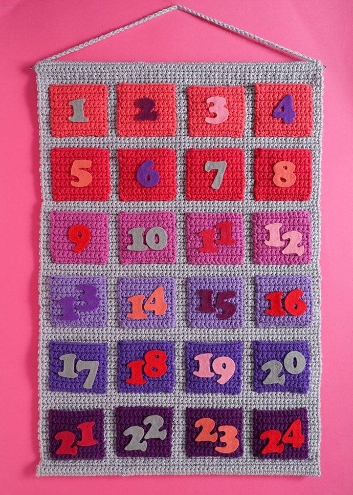 Modern Ombre Crochet advent calendar pattern - mypoppet.com.au