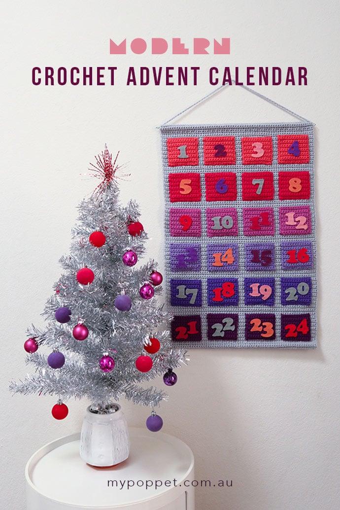 Crochet advent calendar pattern - mypoppet.com.au