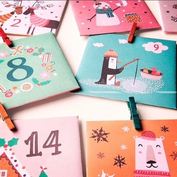 Christmas Countdown Advent Envelopes
