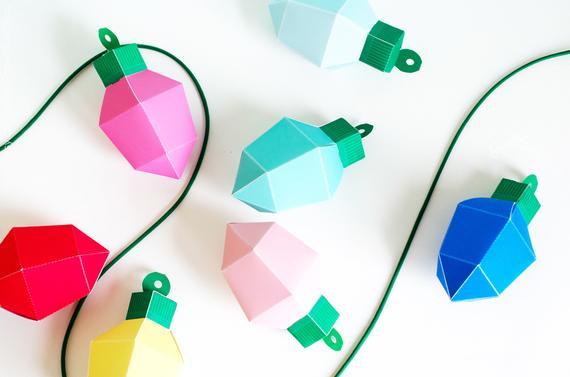 Christmas Lights Favor Box Kit