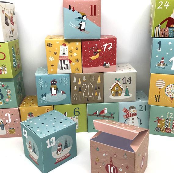 Christmas Countdown Advent Calendar Boxes