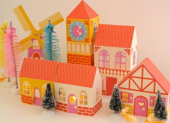 European Christmas Village Scene