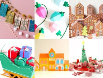 Selection of printbale advent calendars available on etsy