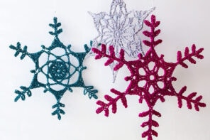 how to make a crocheted snowflake ornament