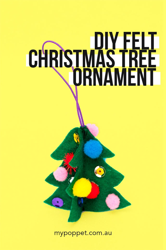 how to make a felt christmas tree ornament