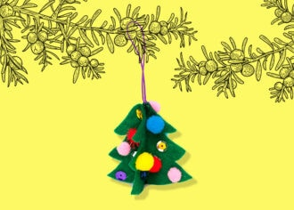 DIY felt Chrismas tree decoration