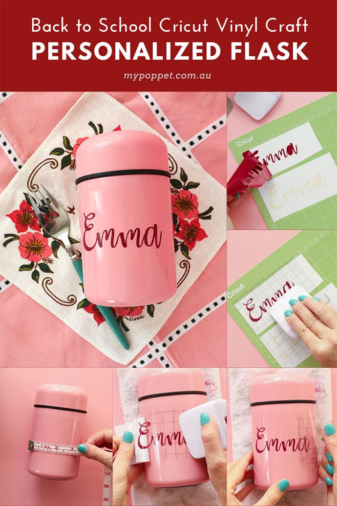 Personalize Lunch Boxes with a Cricut!