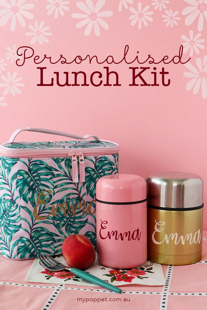 Personalised lunch bag and thermos