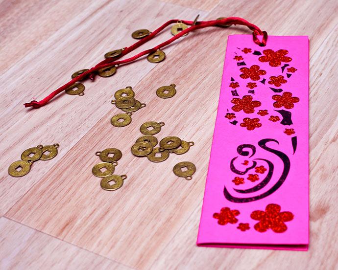 chinese new year craft - papercut bookmark