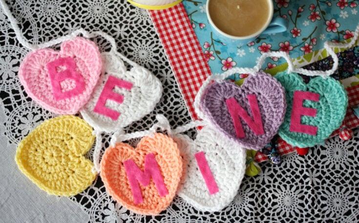 Conversation Heart Garland Crochet Pattern