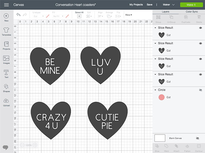 cricut design space screenshot